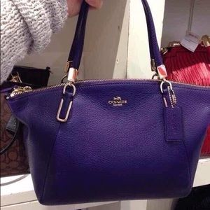 coach Kelsey pebble leather purple bag